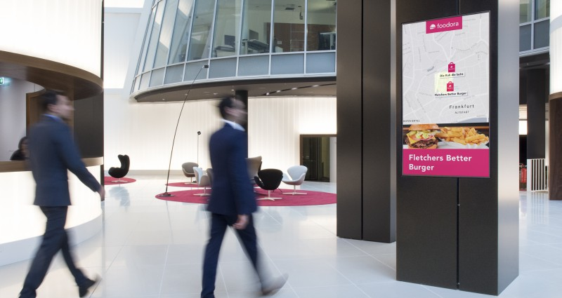 Executive Channel Network (ECN) partners with foodora for Germany's first DOOH programmatic workplace media campaign.